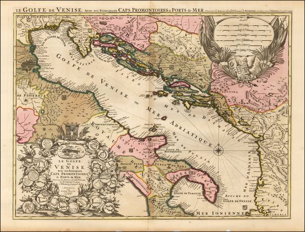 9-Balkans, Italy and Balearic Islands Map By Alexis-Hubert Jaillot