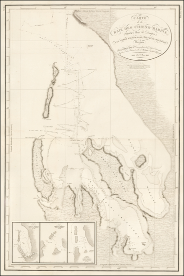 Australia Map By Louis Claude Desaulses de Freycinet