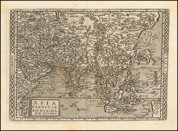 63-Asia, Asia and Philippines Map By Matthias Quad / Johann Bussemachaer