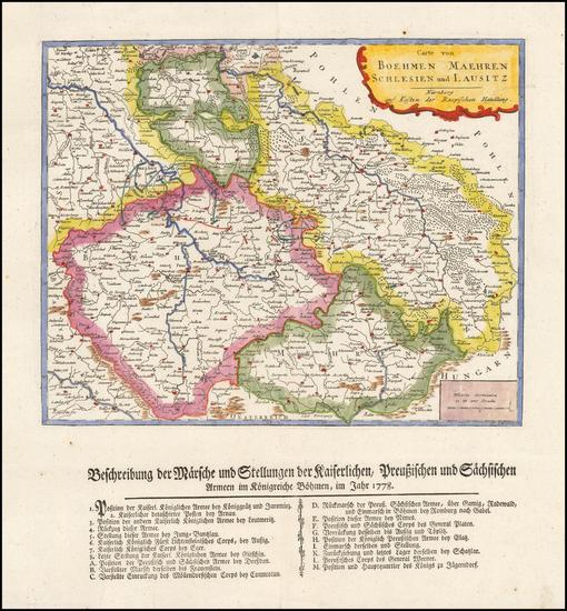 2-Czech Republic & Slovakia Map By Gabriel Nikolaus Raspe