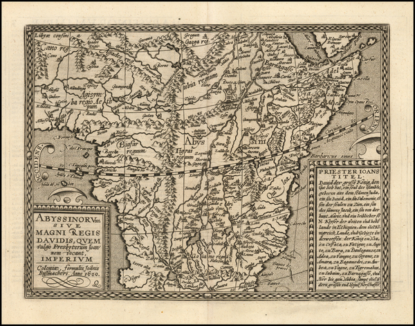 84-Africa, Africa, South Africa and East Africa Map By Matthias Quad / Johann Bussemachaer