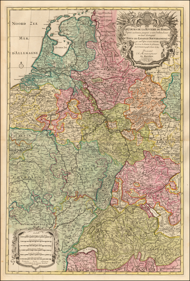 36-Netherlands, Switzerland, France and Germany Map By Pieter Mortier