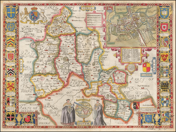 10-British Counties Map By John Speed