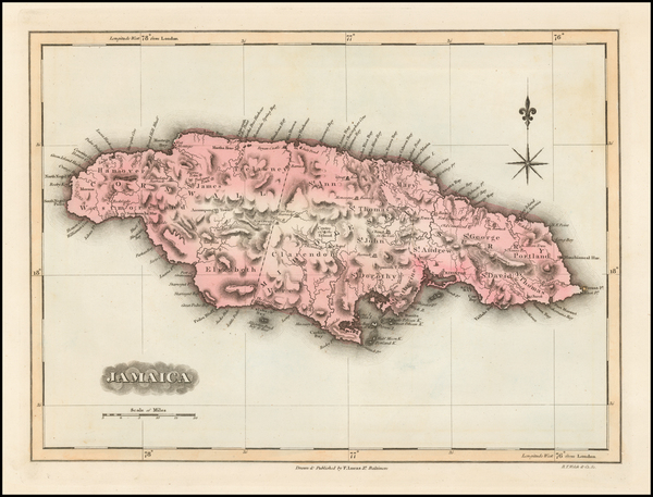 1-Caribbean Map By Fielding Lucas Jr.