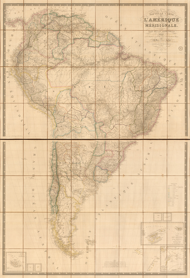 29-South America Map By Adrien-Hubert Brué / Charles Picquet