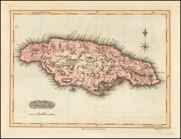 93-Jamaica Map By Fielding Lucas Jr.