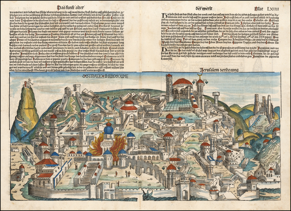 89-Holy Land Map By Hartmann Schedel