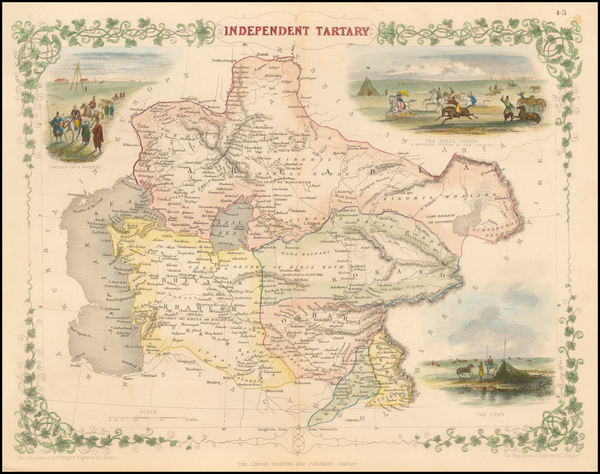 2-India, Central Asia & Caucasus and Russia in Asia Map By John Tallis