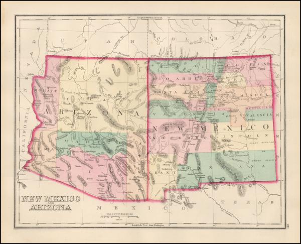 85-Southwest Map By O.W. Gray