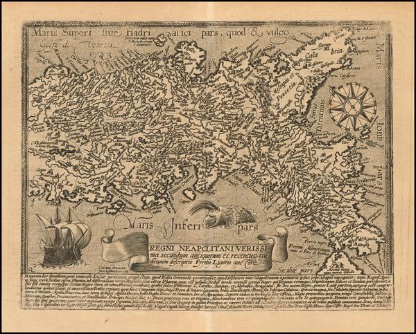 48-Italy Map By Matthias Quad / Johann Bussemachaer