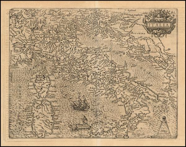16-Italy Map By Matthias Quad
