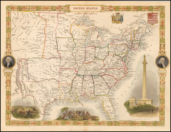 34-United States Map By John Tallis