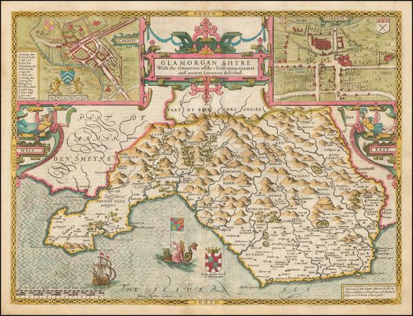 21-Wales Map By John Speed