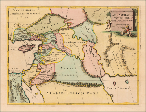 73-Greece, Cyprus and Middle East & Holy Land Map By Francois Halma