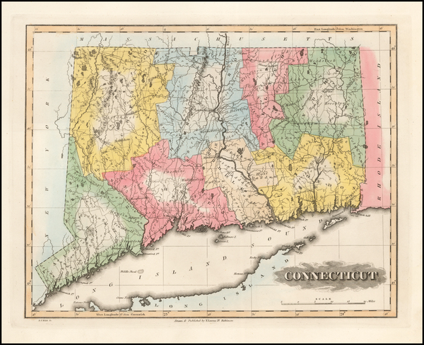 68-Connecticut Map By Fielding Lucas Jr.