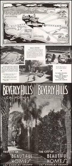 Pictorial Maps, Los Angeles and Other California Cities Map By Beverly Hills Chamber of Commerce