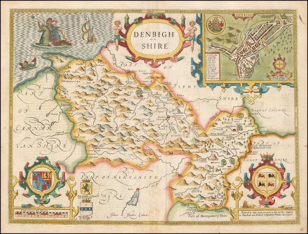 95-Wales Map By John Speed