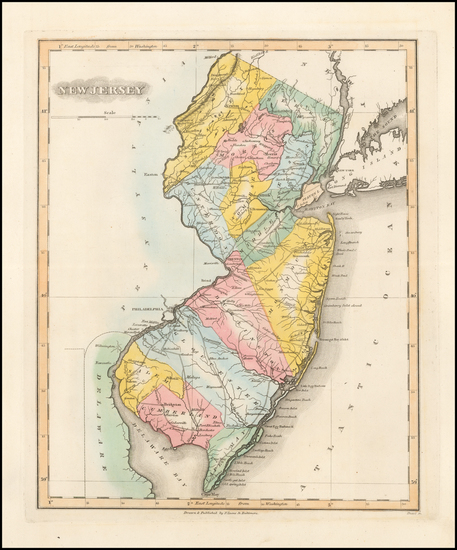 36-New Jersey Map By Fielding Lucas Jr.