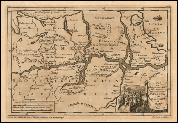 91-South, Midwest and Plains Map By Pieter van der Aa
