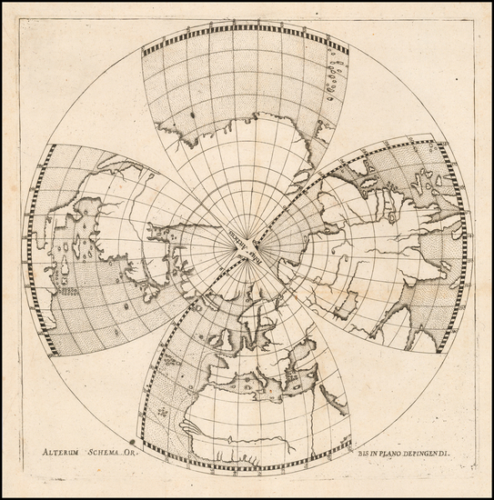 4-World, World, Northern Hemisphere and Polar Maps Map By Daniel Angelocrator