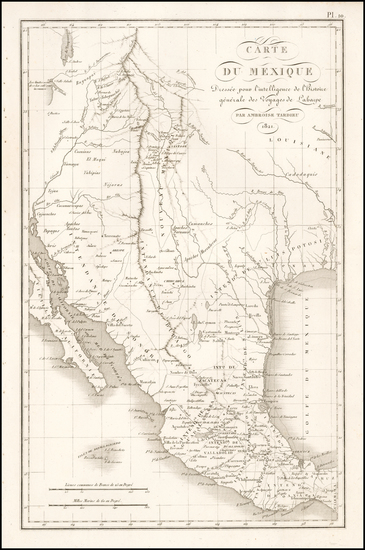 94-Texas, Southwest, Rocky Mountains and Mexico Map By Ambroise Tardieu