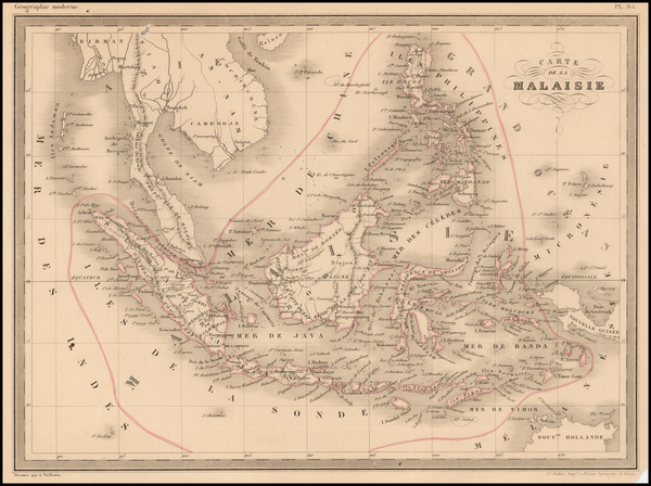 74-Southeast Asia and Philippines Map By Alexandre Vuillemin