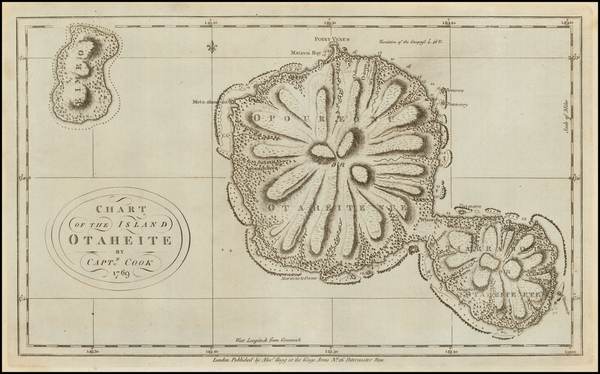53-Other Pacific Islands Map By James Cook