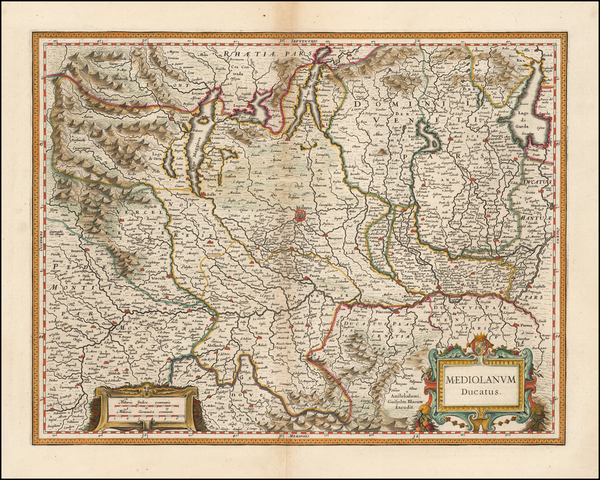 66-Northern Italy Map By Willem Janszoon Blaeu