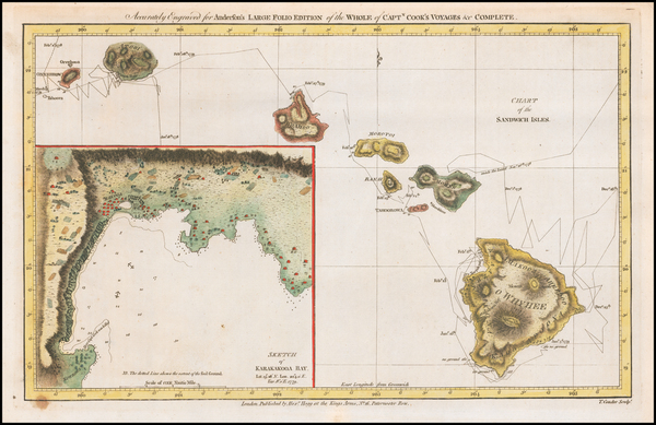 57-Hawaii and Hawaii Map By James Cook