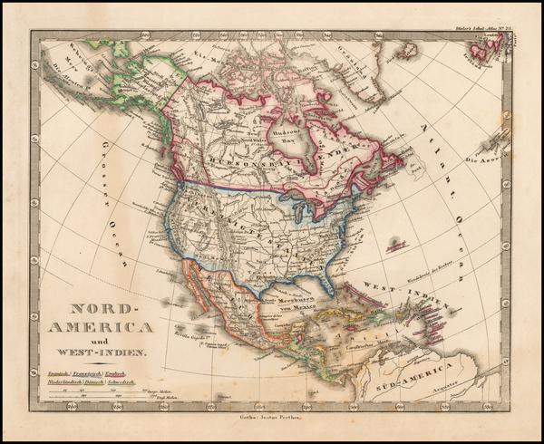 6-North America Map By Adolf Stieler