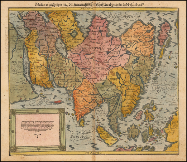 55-Indian Ocean, Asia, Asia, Japan and Southeast Asia Map By Sebastian Munster