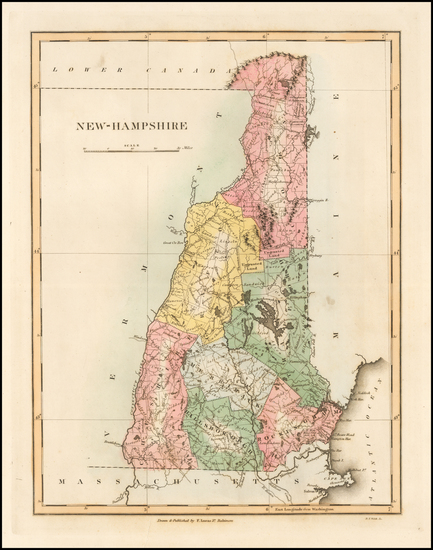 74-New Hampshire Map By Fielding Lucas Jr.