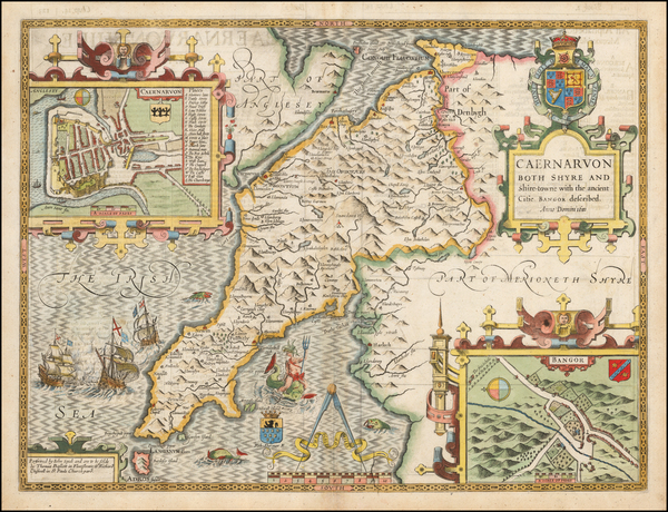 0-Wales Map By John Speed