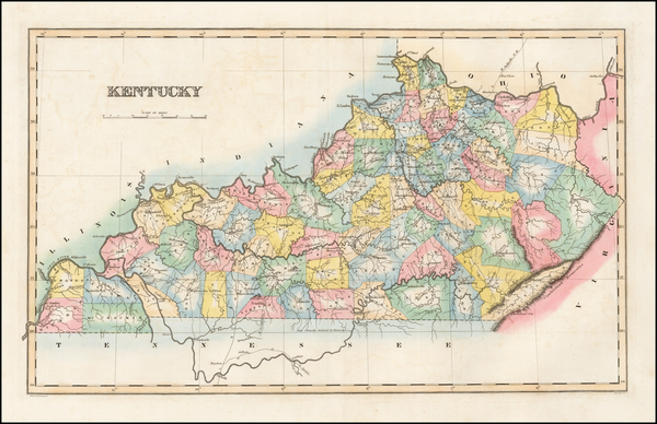78-Kentucky Map By Fielding Lucas Jr.