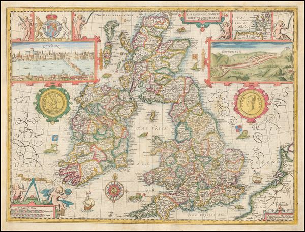 41-British Isles Map By John Speed