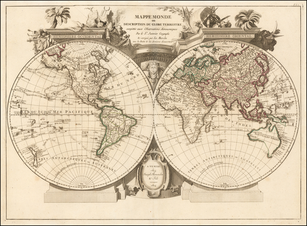 18-World and World Map By Joseph Remondini & Fils
