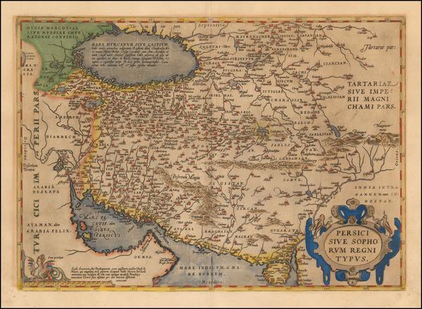 61-Persia Map By Abraham Ortelius