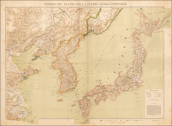 China, Japan and Korea Map By Imperial Instituto Artistico