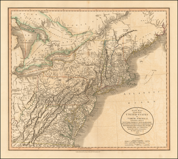 45-New England and Mid-Atlantic Map By John Cary