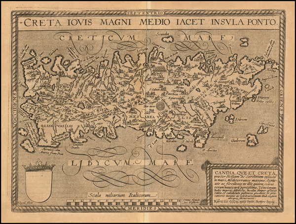 Greece Map By Matthias Quad / Johann Bussemachaer