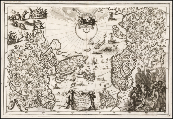 33-Polar Maps, Canada, British Isles, Russia, Scandinavia and Iceland Map By Heinrich Scherer