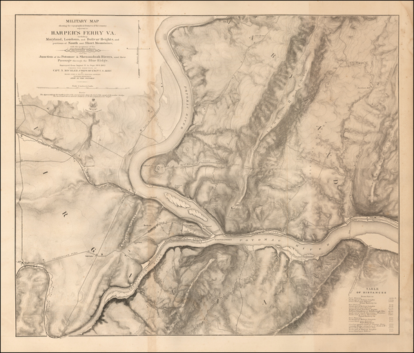 95-Southwest and Civil War Map By U.S. Army Corps of Topographical Engineer