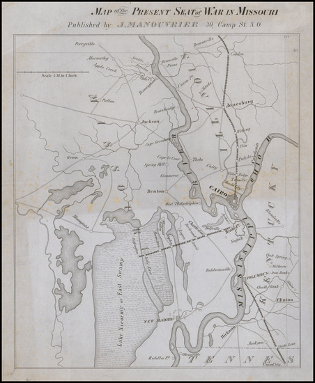 46-Midwest, Missouri and Civil War Map By Julius Manouvrier