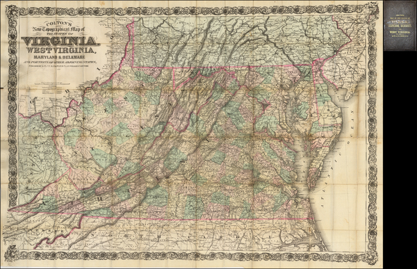 94-Maryland, West Virginia and Virginia Map By G.W.  & C.B. Colton