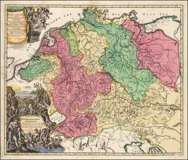 71-Germany and Austria Map By Johann Baptist Homann