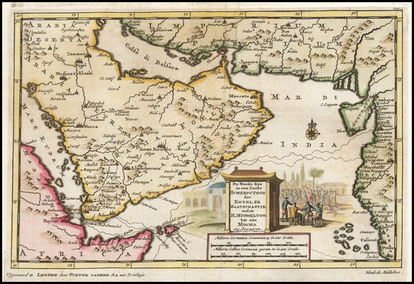 75-Middle East and Arabian Peninsula Map By Pieter van der Aa