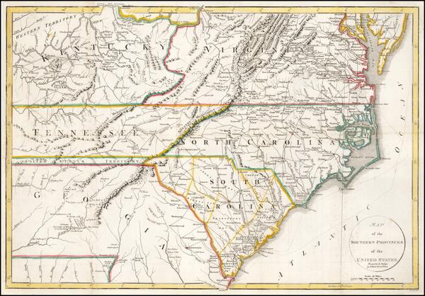 46-South, Southeast, North Carolina and South Carolina Map By John Russell / Richard Phillips