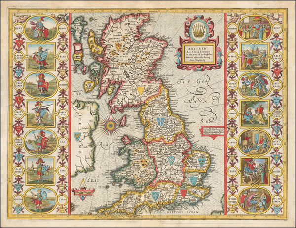 8-British Isles and England Map By John Speed