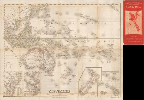 13-Oceania Map By Weimar Geographische Institut
