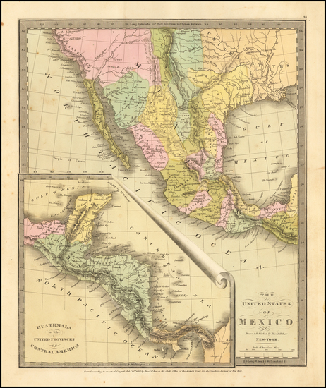 45-Texas, Southwest and California Map By David Hugh Burr